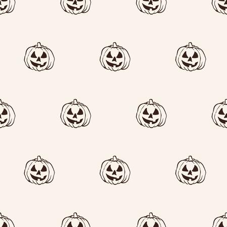 autumn motif: seamless pattern, halloween pumpkin vector art  background design for fabric and decor