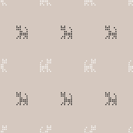 seamless pattern, Cross Stitch art  background design for fabric and decor