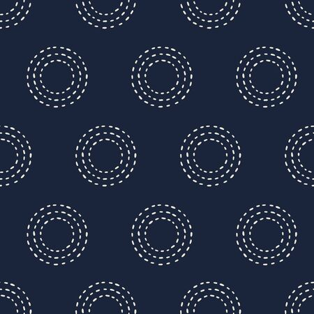 seamless pattern, Japanese art  background design for fabric and decor Illustration