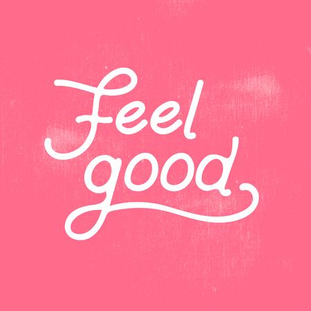 feel good: feel good lettering design template