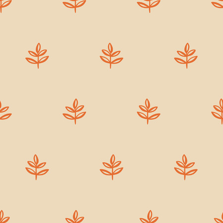 seamless pattern, leaf art  background design for fabric and decor