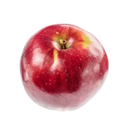 beautiful ripe juicy Apple on a white background