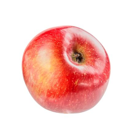 Beautiful ripe juicy Apple on a white background. Stock Photo