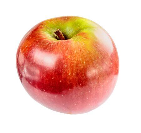 Beautiful ripe juicy Apple on a white background. Stock Photo