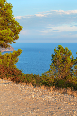 South of France. Mediterranean sea landscape. Sunset Stock Photo
