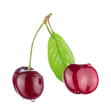 Cherry isolated on white background. With clipping path. Reklamní fotografie - 124656832