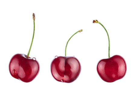 Cherry isolated on white background. With clipping path. Reklamní fotografie