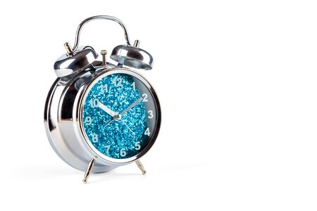Alarm clock, isolated on the white background, clipping path included. 스톡 콘텐츠