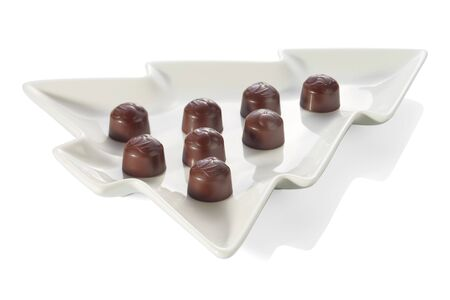 Delicious chocolate candy. Chocolate candy and stuffing.