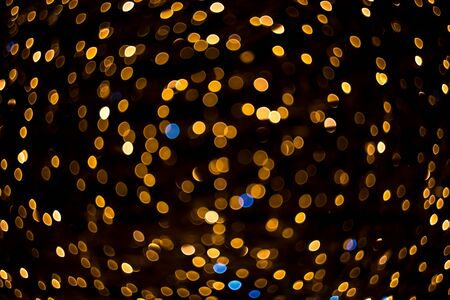 Beautiful bokeh of small circles, twisting into a spherical shape.