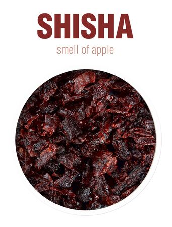 Shisha with Apple flavor. Flavored tobacco mixtures for hookah Smoking.