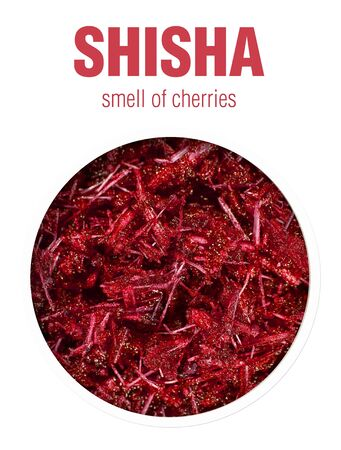 Cherry-scented Shisha. Flavored tobacco mixtures for hookah Smoking.