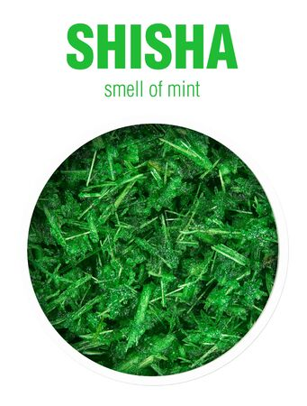 Shisha with the aroma of fresh mint. Flavored tobacco mixtures for hookah Smoking.