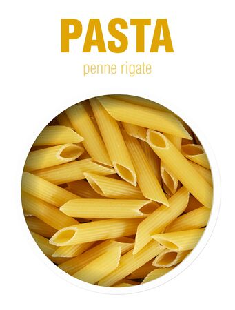 Macaroni or pasta background. Finished image for use on the package.