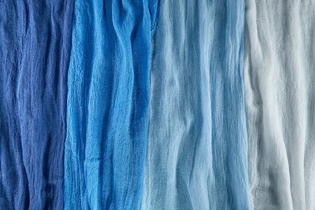 Beautiful fabric for decoration and sewing different shades of the same color scheme.