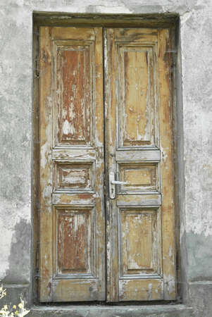 beautiful ancient door on a grey background