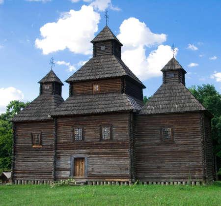 beautiful old wooden church Standard-Bild