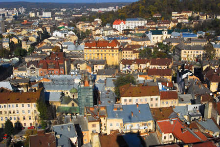Panorama of a beautiful old city Stock Photo - 3842623