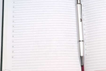 striped paper (diary) with pen and bookmark