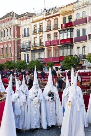 Seville, Spain - April, 2011: Semana Santa de Sevilla Fiesta Easter Andalucia