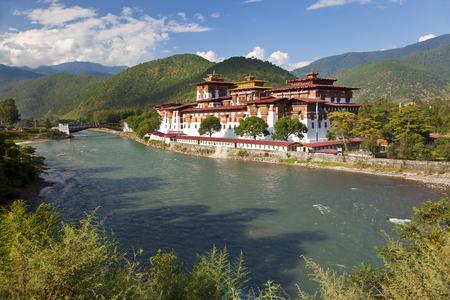 プナカ ・ ゾンや修道院、プナカ、ブータン