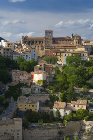 Cuenca a Historic Walled Town with steep cobbled streets and medieval castle ruins Castilla-La Mancha Spain 新聞圖片