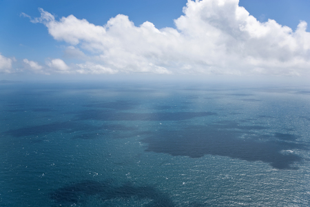 Seascape, aerial view, Great Barrier Reef, Queensland, Australia