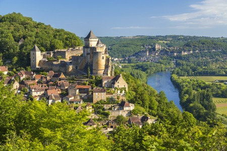 Chateau de Castelnaud, Dordogne, Aquitaine, France 報道画像