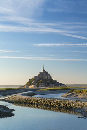 Mont Saint Michel, Normandy, France Banco de Imagens