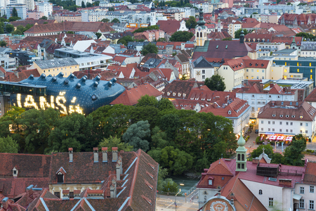 Town View & Rooftops, Graz, Austria Editorial