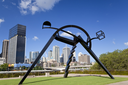 Brisbane, Australia - April, 2012: Sculpture outside Gallery of Modern Art, Brisbane, Queensland, Australia