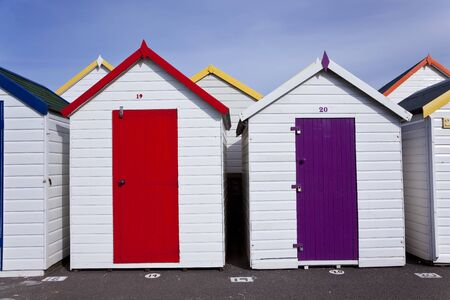 Beach huts, Goodrington, Paignton, Devon, UK