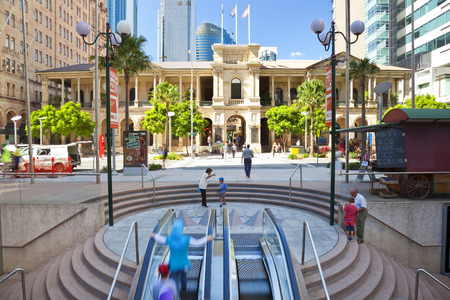 Brisbane, Australia - April, 2012: Historic General Post Office in Brisbane, Queensland, Australia
