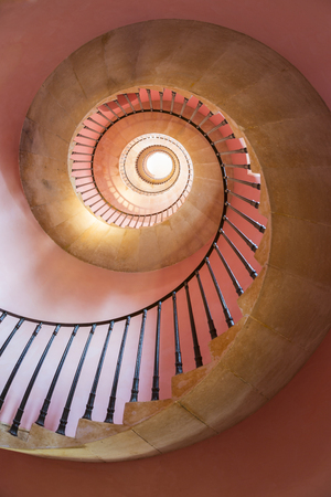 Bath, UK - September, 2014: Spiral staircase, Beckford Tower, Bath, North East Somerset, UK