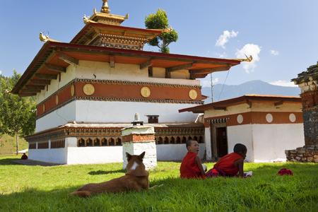 Pana, Bhutan - October 2011: Chimi Lhakhang Monastery, Pana, Bhutan