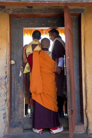 Bumthang, Bhutan - October, 2011: Monk, Tamshing Phala Chhoupa festival, Tamshing Monastery, nr Jakar,