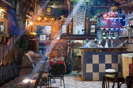Luxor, Egypt - November, 2009: Cafe, Luxor, Egypt