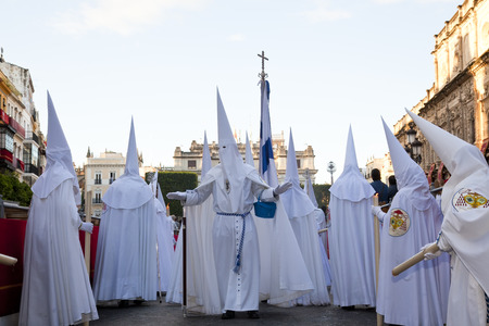 Seville, Spain - April, 2011: Semana Santa de Sevilla Fiesta Easter Andalucia Editorial