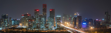 Beijing Financial skyline, Central, Business District, Beijing, China Editorial