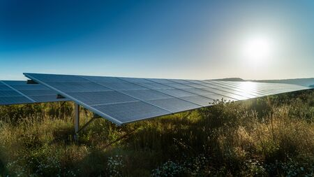 Sun sets on solar energy farm