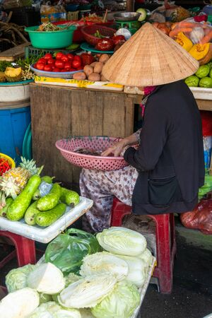 Vegetable market in Hoi An, Vietnam