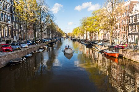 Canal in central Amsterdam, The Netherlands