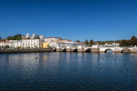 Roman Bridge across the Gilao River in Tavira, Eastern Algarve, Portugal