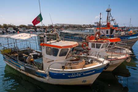 Fishing boats at Fuseta, Eastern Algarve; Portugal