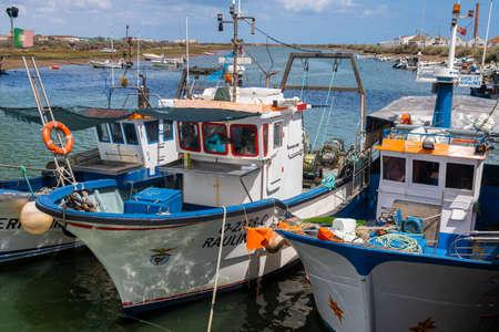 Fishing boats in the harbour of Fuzeta, Algarve, Portugal