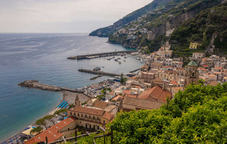 Amalfi town in Province of Salerno, Campania, Italy
