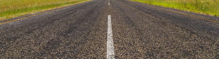 Straight road with centre white line- background banner image Foto de archivo