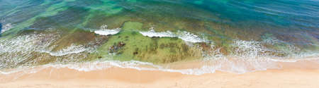 Tropical beach and waves - banner image - Portugal Stok Fotoğraf