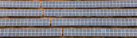 Aerial view  of solar panels - banner image