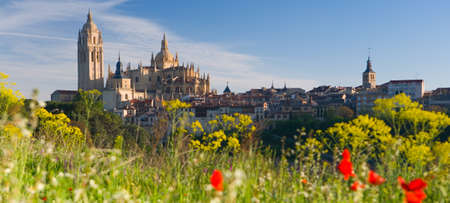 Segovia and Cathedral in the Old Castile Region of Spain